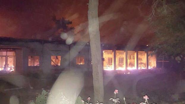 Fuerzas aéreas de Estados Unidos bombardearon hoy un hospital de Médicos Sin Fronteras (Foto EFE)