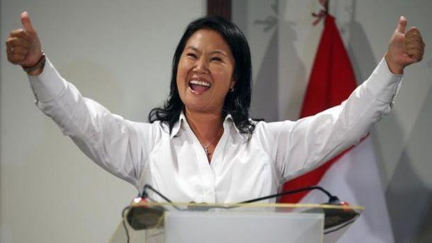 Fujimori, desde un hotel en Lima, asegura que representa la voz de los peruanos que reclaman la presencia del Estado. (EFE)