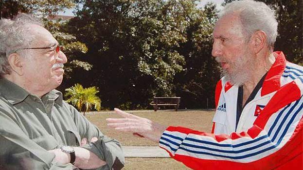 El Nobel de Literatura Gabriel García Márquez con Fidel Castro. (Telesur)