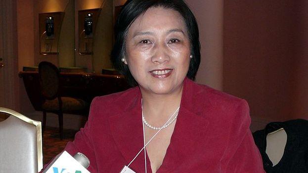 Gao Yu durante una entrevista en la emisora estadounidense Voice of América en 2011. (CC)