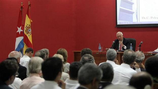 El ministro García-Margallo en el Instituto Superior de Relaciones Internacionales, en La Habana. (EFE/MAEC)
