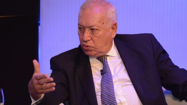 José Manuel García-Margallo, ministro español de Asuntos Exteriores y de Cooperación, en la conferencia Iberoamérica nos une. (Casa de América)
