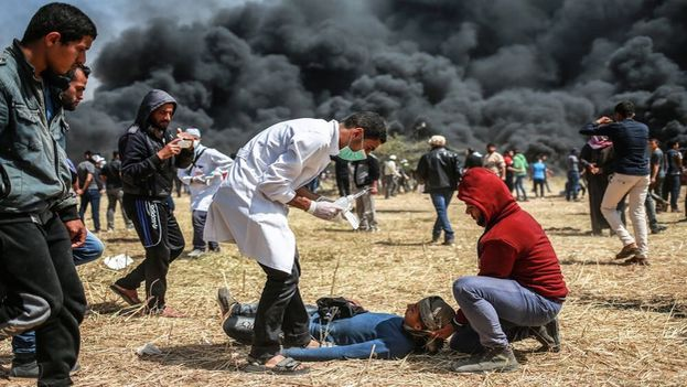 Las protestas en Gaza se producen en el día de inauguración de la embajada de EE UU en Jerusalén.