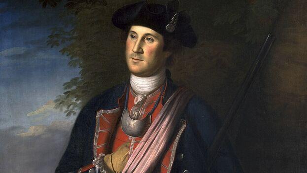 George Washington en 1772, en el retrato más temprano que se conoce de él. (CC/Washington and Lee University)