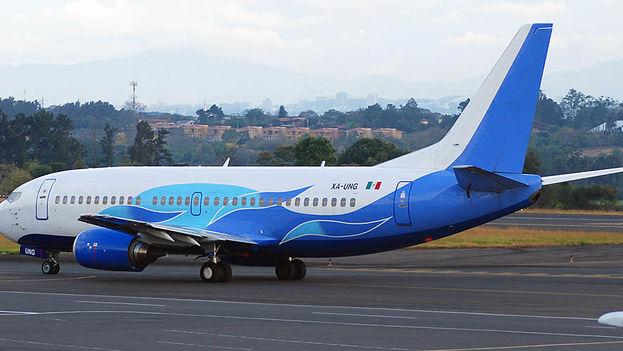 Un avión de la compañía Global Air, propietaria del aparato siniestrado en La Habana. (Twitter)