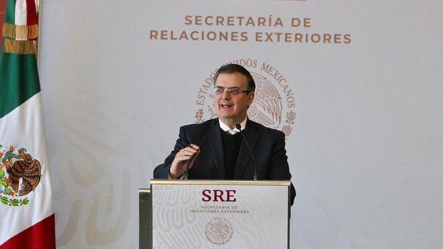 Marcelo Ebrard, canciller mexicano, anunció los acuerdos a los que su Gobierno ha llegado con EE UU para mejorar el desarrollo y frenar la migración económica. (Cancillería Mexicana)