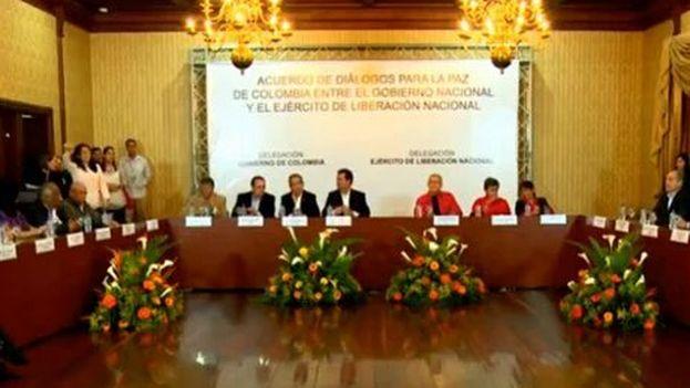 El acuerdo para los diálogos entre el Gobierno colombiano y el ELN ha sido recibido con optimismo por los mandatarios de América Latina. (Twitter)
