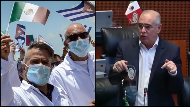 El Gobierno de México dijo en su momento que el primer grupo de médicos cubanos llegó en abril de 2020. (Collage)