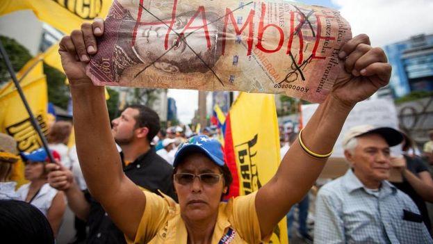 Durante el Gobierno de Nicolás Maduro se han producido centenares de manifestaciones contra el hambre y el desabastecimiento en el país. (EFE)