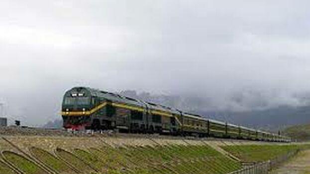 """El Gobierno chino ha incluido la línea ferroviaria transfronteriza como parte de la llamada """"Nueva Ruta de la Seda"""". (representación del proyecto)"""