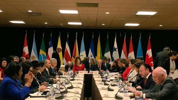 El Grupo de Lima se reunirá en Colombia próximamente. (EFE)