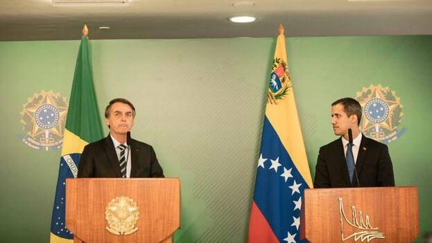 Juan Guaidó se reunió con Jair Bolsonaro en Brasil, antes de regresar a Venezuela, como prevé, en este fin de semana. (AsambleaVe)