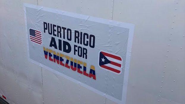 Guaidó dijo que salió desde Puerto Rico una embarcación con 250 toneladas de ayuda humanitaria para Venezuela. (JuanGuaido)