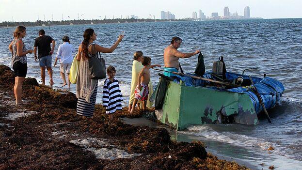 Un vocero de la Guardia Costera dijo que 52 inmigrantes procedentes de Cuba han intentado llegar a Estados Unidos a través del mar desde el 1 de octubre de 2019. (el Nuevo Herald)