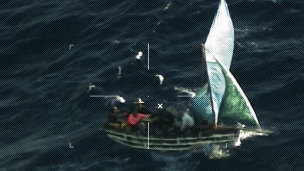 La Guardia Costera ha interceptado desde el pasado 1 de octubre a 663 cubanos. (USCG)