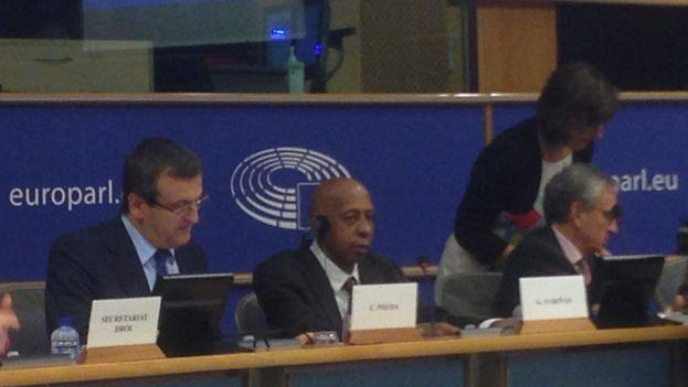 Guillermo Fariñas durante su intervención ante la Eurocámara el pasado 12 de octubre. (Twitter)