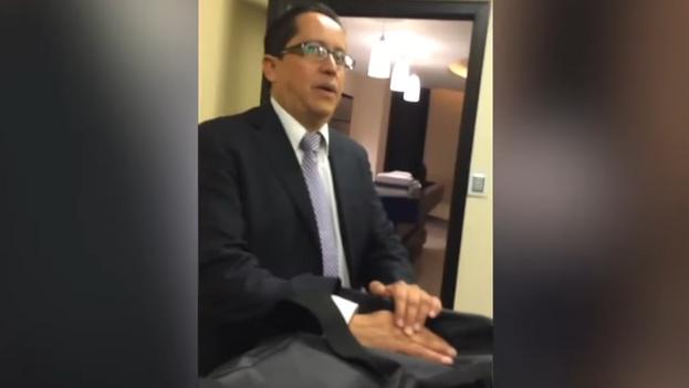 Guillermo Gutiérrez, actual secretario del gobernador de Querétaro, México, en un momento del vídeo. (Captura)