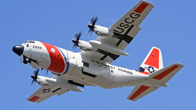 Un avión de búsqueda y rescate HC-130J de la Guardia Costera de los Estados Unidos. (CC)