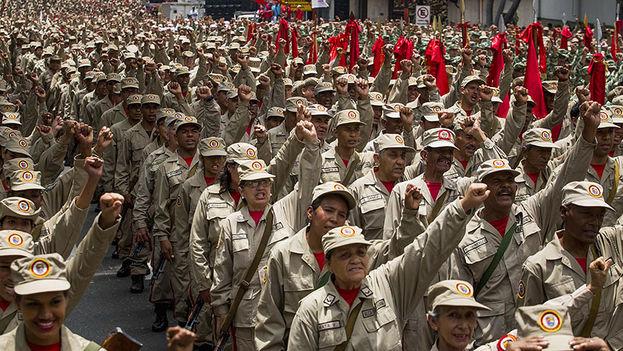 La Milicia Bolivariana es un cuerpo de milicias integrado por civiles que creó el fallecido expresidente Hugo Chávez en 2009. (EFE)