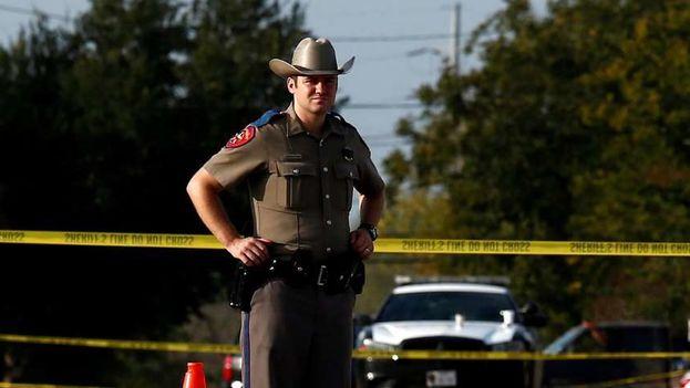 """El sheriff del condado de Harris, en el que se encuentra Santa Fe, Ed González, informó en su cuenta de Twitter que """"hay varios muertos"""" debido al tiroteo. (EFE)"""