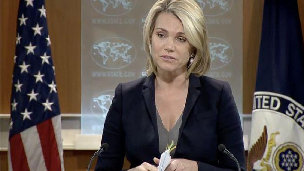 Heather Nauert, portavoz del Departamento de Estado, sostuvo que mientras siga la investigación EE UU no acusa a nadia. (Fox News)