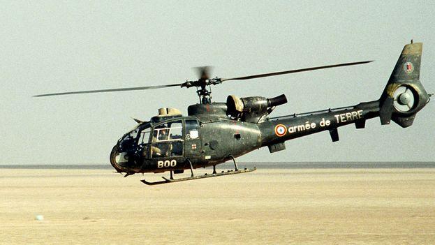 Helicóptero del Ejército de tierra francés durante una operación en el desierto. (CC)