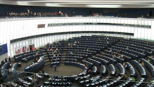 Hemiciclo del Parlamento Europeo en su sede de Estrasburgo. (Flickr)