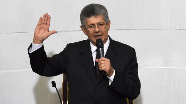 El diputado opositor Henry Ramos Allup y nuevo presidente de la Asamblea Nacional. (MUD)