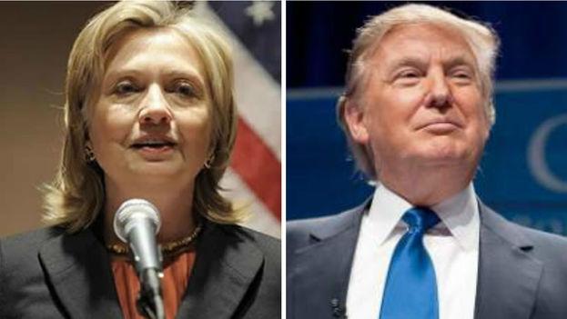 La candidata demócrata Hillary Clinton y el republicano Donald Trump.