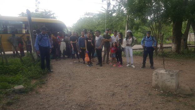 """Honduras forma parte del llamado """"corredor centroamericano"""" por el que miles de inmigrantes indocumentados intentan llegar a territorio estadounidense. (Policía de Honduras)"""