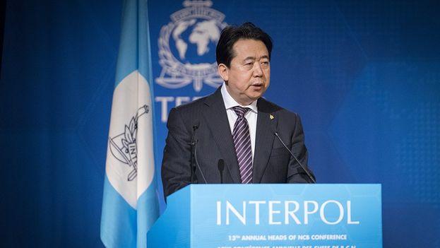 Meng Hongwei es considerado un peso pesado del Partido Comunista Chino. (@INTERPOL_HQ)