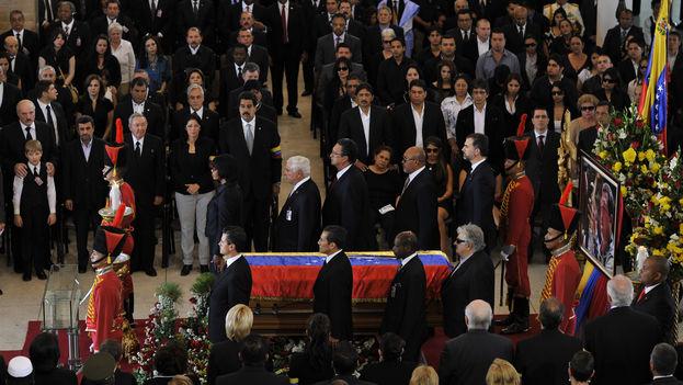 Se cumplen cinco años de la muerte de Hugo Chávez durante los que el nivel de vida en su país no ha hecho sino caer en picado. (Presidencia de la República Mexicana)