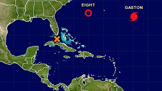 Huracán Gastón en el Atlántico. (Centro Nacional de Huracanes/NHC)