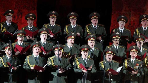 Imagen del coro Alexandrov, cuyos integrantes viajaban en el avión siniestrado (Efe)