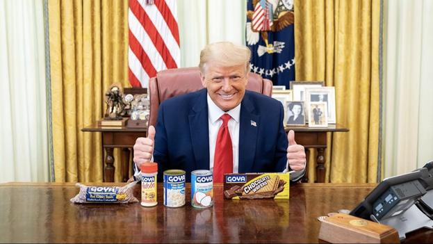 Imagen compartida por Donald Trump apoyando los productos Goya. (Instagram/realdonaldtrump)