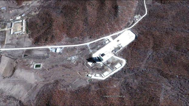 Imagen tomada por Google Earth de la base de Dongchang-ri, en Corea del Norte