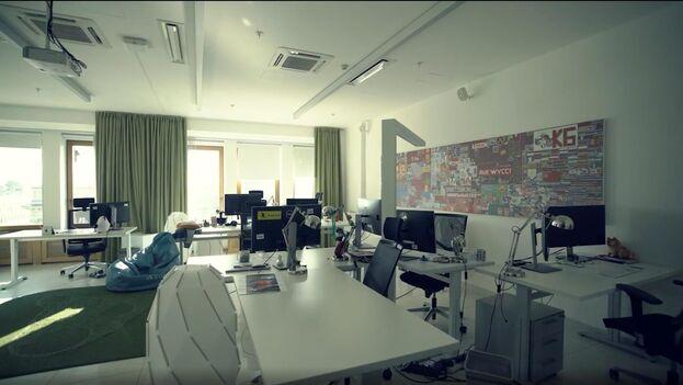Imagen de la Oficina de Pável Durov, creador de Telegram, en Rusia antes de que abandonara el país en 2014. (EFE/ Kion)