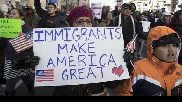 Imagen de una manifestación en favor de los 'dreamers' (los jóvenes indocumentados) en Estados Unidos. (EFE)