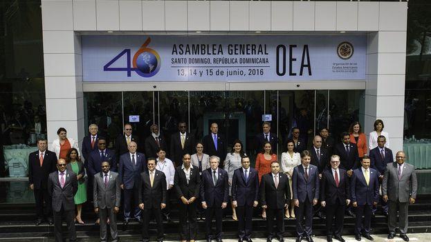 Imagen oficial de la 46 Asamblea de la OEA. (@OEA_oficial)