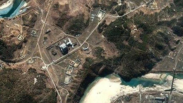 Imagen tomada por satélite de la central nuclear de Yongbyon