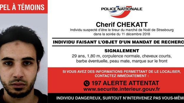 Imagen del presunto terrorista distribuida por la policía francesa. (PoliceNationale)
