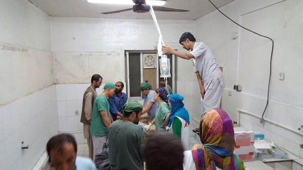 Imágenes del interior del hospital bombardeado de Médicos Sin Fronteras en Kunduz. (@MSF_Prensa)