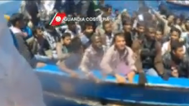 Imagenes del del rescate en el Canal de Sicilia. (Guarda Costera de Italia)