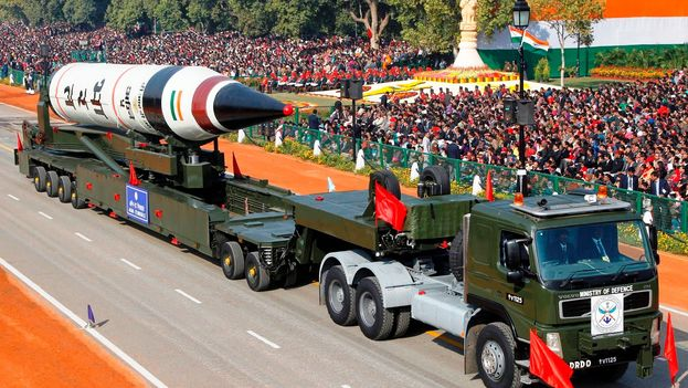 India prueba con éxito misil con capacidad nuclear y alcance 5.000 kilómetros. (EFE)