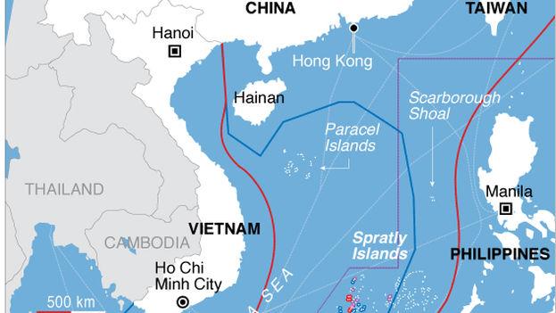 Infografía de las disputas en Asia por el Mar de la China Meridional. (CC)