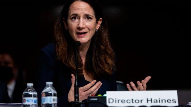 En la imagen, la directora de Inteligencia Nacional de EE UU, Avril Haines. (EFE/Graeme Jennings/Pool/Archivo)