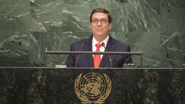 Intervención del Canciller de Cuba, Bruno Rodríguez, en el Debate General de la Asamblea General de Naciones Unidas. (@Minrex)