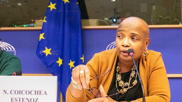 Intervención en el Parlamento Europeo de la embajadora de Cuba en Bruselas, Norma Goicochea Estenoz. (Archivo)