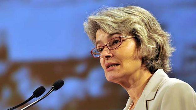 La búlgara Irina Bokova, que abandona la dirección de la organización estos días, lamentó profundamente la salida de EE UU. (@IrinaBokova)