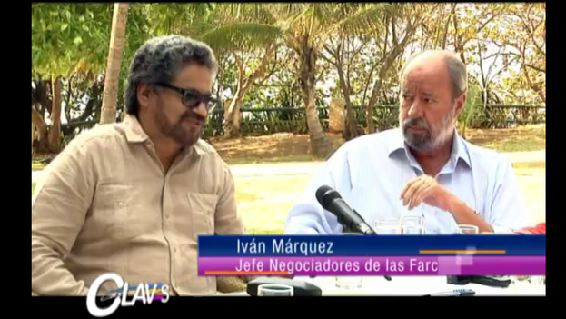 Iván Márquez durante la entrevista en Canal Capital